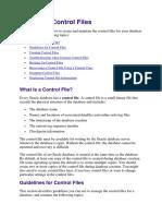 Control File Management