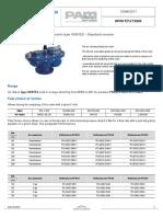 Air Valve Type VENTEX - Standard Version