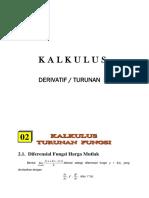 Kalkulus Derivatif Turunan Fungsi