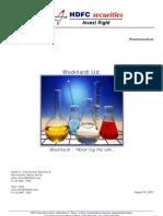 Wockhardt Company Report