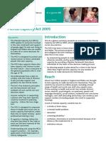 Mental Capacity Act 2005 Summary