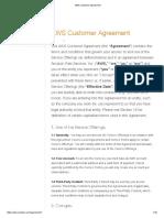 AWS Customer Agreement