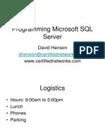 Programming Mss Ql 2008