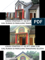 WA +62 877-2006-3190,Jual Rumah Kecil Indah Sederhana  Dekat Universitas Pamulang