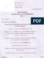 Mechanical Engineering Ses 2014 Mains