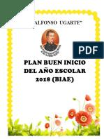 Plan Buen Inicio Del Año Escolar 2018