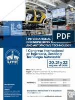 Afiche -International Conference on Engineering, Management and Automotive Technology – ICEMAT 2018