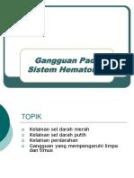 Gangguan Sistem Hemopoiesis Dan Limfoid