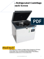 Blood Bank Centrifuge 6 Buckets Touch Screen