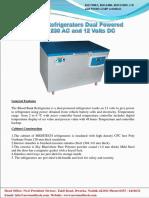 Blood Bank Refrigerator Horizontal Dual Powered