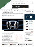 Honda's New 1-Litre Engine to Use BorgWarner's Wastegate Turbocharger - NDTV CarAndBike