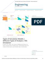 Types of Simulation Models _ Different Types of Analysis _ FEA Simulation – Mechanical Engineering