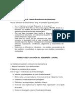 Formato de Evaluación Del Desempeño Laboral