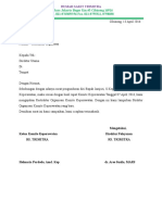 Surat Restruktur Organisasi Komite Keperawatan