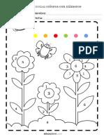 Colorea Flores Numeros Vocales