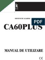 Manual de Utilizare La Sistemul de Alarma CA 60