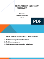 School Based Management and Quality Assessment 2.0