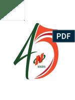 Logo HUT Nindya Karya 45th