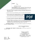 Affidavit of Loss Id's Stolen