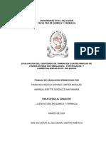 Evaluacion Del Contenido de Tiamina en Cuatro Marcas de Harina de Maiz Nixtamalizado Fortificadas