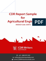 CDR Report Sample for Agricultural Engineer