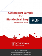 CDR Report Sample for Bio-Medical Engineers
