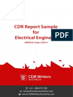 CDR Report Sample for Electrical Engineers