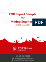 CDR Report Sample for Mining Engineers