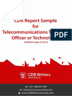 CDR report Sample for Telecommunications Technical Officer