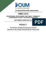 Kerjasama Dalam Pendidikan Orang Asli