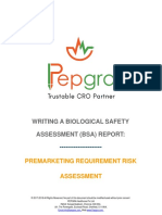PREMARKETING REQUIREMENT RISK ASSESSMENT - Writing a biological safety assessment (bsa) report