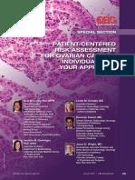 Patient-centered Risk Assessment for Ovarian Cancer