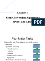 Line Scan Conversion in computer graphics