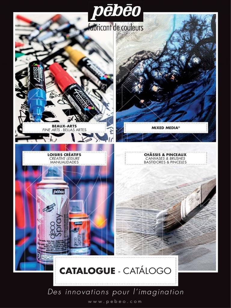Pebeo Catalogue General   Acrylic Paint   Art Materials f8d63f08343