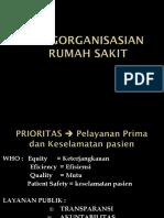 Organisasi Dan Manajemen Rumah Sakit Pertemuan 5A