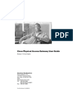 Cisco Physical Access Gateway User Guide