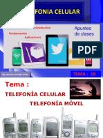 Tema 19 ( I ) Telefonía Celular movil en PPT FINAL en  PDF.pdf
