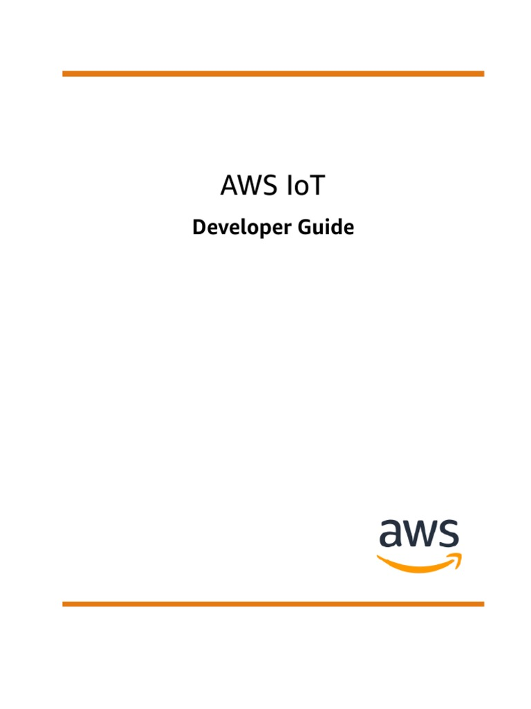 Aws Iot Manual | Software Development Kit | Amazon Web Services