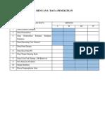 Rencana Data Penelitian