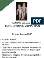 Evaluare Si Raport Abuz Sexual Copil