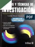 LIBRO MUNCH Metodos y Tecnicas de Investigacion