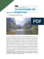 Buenaventura de Sousa Santos - Para Una Sociología de Las Emergencias