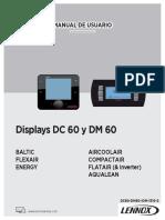 Ficha tecnica Display de Control Dc60 Dm60 Iom 1310 s
