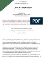 Cem Anos de Gilberto Freyre[1]