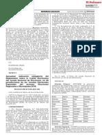 Aprueban aplicación obligatoria del Reglamento sobre la Casilla Electrónica del Jurado Nacional de Elecciones en 46 jurisdicciones de los Jurados Electorales Especiales del proceso Elecciones Regionales y Municipales 2018