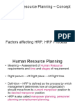 Human Resource Planning Concept and Need Factors Affecting Hrp Hrp Process l 3 1225376118868825 8