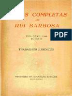 Obras Rui Barbosa