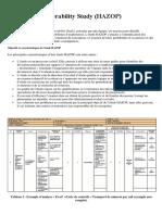Hazards and Operability Study (HAZOP)