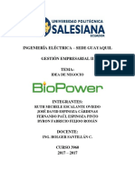 Plan de Negocio BioPower
