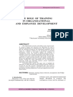 The role of training in an organization and employee development.docx